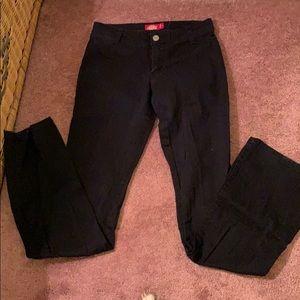 Dickies boot cut work pants juniors size 0 (black)
